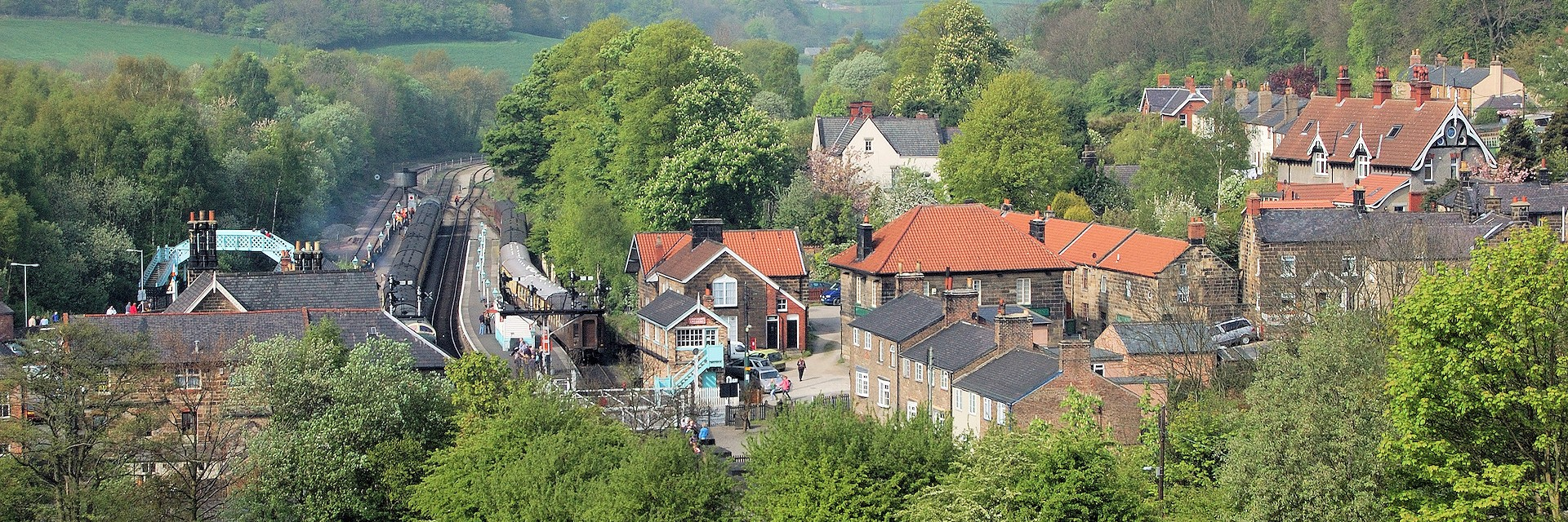 Grosmont Village and Train Station